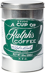 Tin of Ralph's Roast Blend coffee.