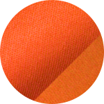 Swatch of orange Pima Soft-Touch fabric