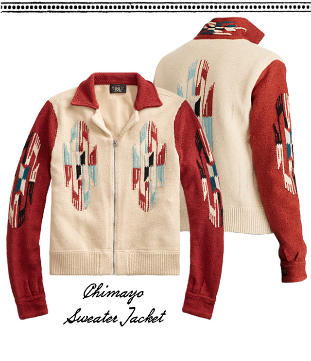 Sweater jackets with red contrast sleeves & brown leather bag