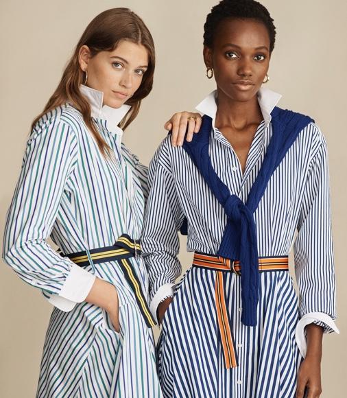 Hemdkleid aus Baumwolle in A-Linie