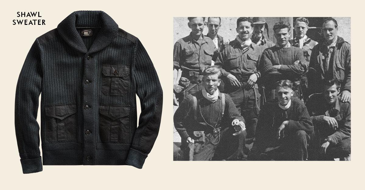 Black sweater workshirt & shawl cardigan